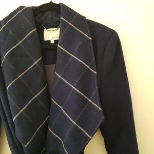 Sportscraft Signature Wool Navy Check Coat AU 14
